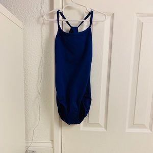 Girls blue leotard